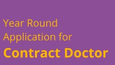All year round recruitment for Contract Doctor